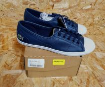 LACOSTE ZIANE WOMENS CHUNKY CANVAS TRAINERS - UK SIZE 5/NAVY