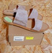 SAVANNAH COLLECTION LADIES WIDE FIT SANDALS - UK SIZE 5/NUDE