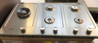 WHIRLPOOL GMW 9552/IXL GAS HOB / RRP £449.00 / CONDITION REPORT: UNTESTED CUSTOMER RETURN. TWO