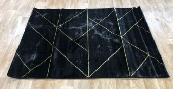 LA REDOUTE MARBLE EFFECT RUG - WITH GOLD DETAIL / SIZE: 120 X 170cm