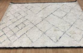 LA REDOUTE ANTON BERBER-STYLE WOOL RUG / SIZE: 200 X 290cm