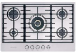 KITCHENAID KHSP5 77510 STAINLESS STEEL BUILT-IN GAS 5 HOB / RRP £1,200.00 / CONDITION REPORT: