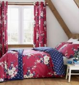 CANTERBURY DUVET COVER SET - PLUM / SIZE: KINGSIZE BY CATHERINE LANSFIELD