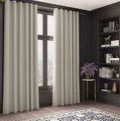SHIFFLETT EYELET BLACKOUT THERMAL CURTAINS - CREAM / SIZE PER PANEL: 168 W X 183 D CM BY CLASSICLIVI