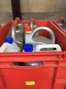 1 LOT TO CONTAIN A RED TOTE FILLED WITH 4 X 5L TUBS OF BLUECOL COOLANT AND 2 X 5L TUBS OF CLEENOL