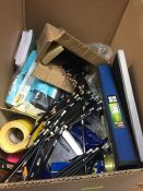 1 LOT TO CONTAIN AN ASSORTMENT OF OFFICE SUPPLIES, ITEMS TO INCLUDE : PENCILS, BICS, SELLOTAPE,