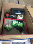 1 LOT TO CONTAIN AN ASSORTMENT OF OFFICE SUPPLIES, ITEMS TO INCLUDE : SCOTCH TAPE, ENERGIZER TORCH
