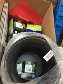 1 LOT TO CONTAIN AN ASSORTMENT OF OFFICE SUPPLIES, ITEMS TO INCLUDE : MESH BINS, QUICK TAGS, MONITOR