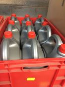 1 LOT TO CONTAIN A RED TOTE FILLED WITH 9 X 5L TUBS OF BLUECOL COOLANT - L10