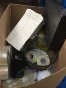 1 LOT TO CONTAIN AN ASSORTMENT OF OFFICE SUPPLIES, ITEMS TO INCLUDE : SELLOTAPE, DUCT TAPE, RUBBER