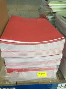 1 LOT TO CONTAIN 3 X PACKS OF RED SCHOOL LINED WORK BOOKS - L10