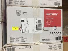 1 LOT TO CONTAIN A BOX OF KATRIN CLASSIC HAND TOWEL ZIG ZAG V-FOLD - L10