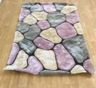 LA REDOUTE NOBLE HOUSE RUGS NH 5858 IN GREY ROSE 150X230CM