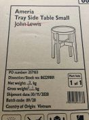 JOHN LEWIS AMERICA TRAY SMALL SIDE TABLE