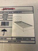 JOHN LEWIS CHILD COMPLIANT UPHOLSTERED SINGLE BED FRAME - BEIGE