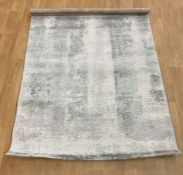 LA REDOUTE OMBRE DISTRESSED RUG (120X170CM) GREEN/ IVORY