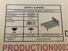 JOHN LEWIS WILTON SMALL DOOUBLE BED FRAME