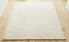 LA REDOUTE DIANO PURE WOOL KNIT EFFECT RUG 160X230CM