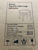 JOHN LEWIS AMERIA TRAY LARGE SIDE TABLE