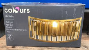 4 X COLOURS DIONE WALL LIGHTS / CONDITIONS VARY, UNTESTED