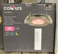 6 X COLOURS LEMETA RECESSED DOWNLIGHTS / COMBINED RRP £210.00 / GRADE A, UNTESTED