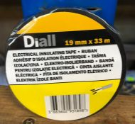 10 X ROLLS OF DIALL ELECTRICAL INSULATING TAPE - BLACK / GRADE A