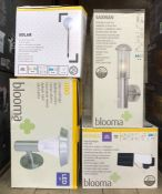 4 X BLOOMA AND OTHER BRANDED LIGHTS / MIXED CONDITIONS, UNTESTED
