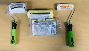 1 X VERY LARGE BOX TO CONTAIN A VERY LARGE ASSORTMENT OF PAINT ROLLER SETS / LIKE NEW