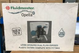 1 X FLUIDMASTER OPELLA LEVER OPERATED DUAL FLUSH CISTERN AND FITTINGS