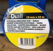 20 X ROLLS OF DIALL ELECTRICAL INSULATING TAPE - BLUE / GRADE A