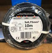 10 X ROLLS OF NEXANS FLEX CABLES - BLACK / GRADE A, UNTESTED