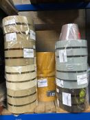 10 X ASSORTED B&Q LAMPSHADES / COLOURS AND DESIGNS VARY / MIXED CONDITION, MOST ITEMS ARE LIKE NEW