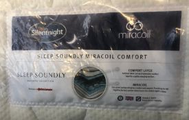 SILENTNIGHT SLEEP SOUNDLY MIRACOIL COMFORT MATTRESS / SIZE: DOUBLE