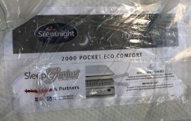 SILENTNIGHT SLEEP GENIUS 2000 POCKET ECO COMFORT KING SIZE MATTRESS