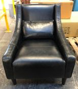 JOHN LEWIS SWEPT LEATHER ARMCHAIR