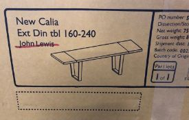 JOHN LEWIS CALIA 6-10 SEATER DINING TABLE