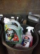 ONE LOT TO CONTAIN 2 LARGE TUBS OF CLEANING CHEMICALS (MOTOR OIL, SELF DRYING CAR SHAMPOO AND SNOW