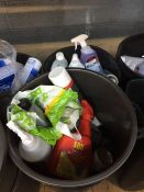 ONE LOT TO CONTAIN 2 LARGE TUBS OF CLEANING CHEMICALS (WEED KILLER, DE-ICER, CAR SHAMPOO) (