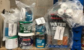 1 X LOT TO CONTAIN A LARGE ASSORTMENT OF DIY RONSEAL AND TOMPSONS MAINTIENCE PRODUCTS / CUSTOMER
