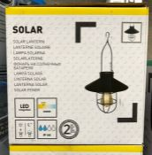 4 X SOLAR INDUSTRIAL STYLE LANTERN LIGHTS / AS NEW