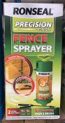 4 X RONSEAL PRECISION FINISH 5LTR FENCE SPRAYER / COMBINED RRP £79.96 / UNTESTED CUSTOMER RETURNS