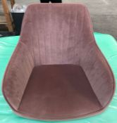 JOHN LEWIS BROOKS VELVET OFFICE CHAIR