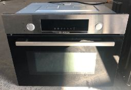 BOSCH SERIE 4 CMA583MS0B BUILT-IN COMBINATION MICROWAVE WITH GRILL