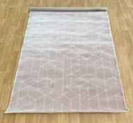 LA REDOUTE CONTEMPORARY GEOMETRIC PATTERNED RUG - ROSE 160X220CM