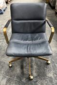 WEST ELM MID-CENTURY LEATHER OFFICE CHAIR