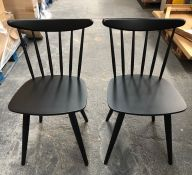 2 X JOHN LEWIS SPINDLE DINING CHAIRS, FSC CERTIFIED (BEECH) - BLACK