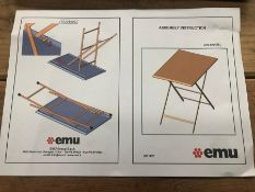 EMU ARC EN CIEL STEEL GARDEN BISTRO TABLE AND CHAIRS - GREEN