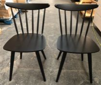 2 x JOHN LEWIS SPINDLE DINING CHAIRS