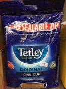 1 LOT TO CONTAIN A BAG OF 1100 TETLEY TEA BAGS / RRP £21.99 / BB 02/2022