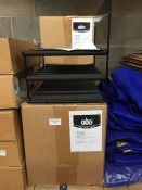 1 LOT TO CONTAIN 4 X BOXES OF METAL RACKS